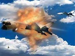 美机撞毁中国军用飞机模拟图
