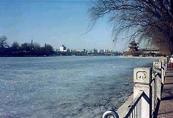 什刹海冬景
