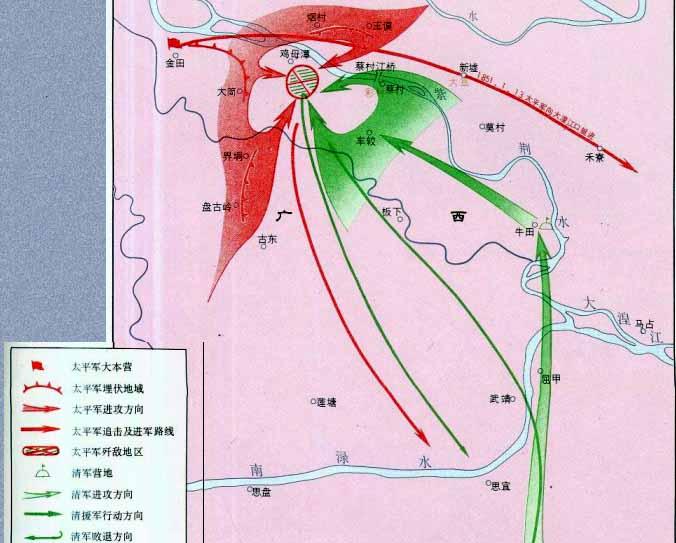 蔡村江之战形势图