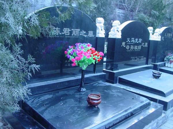 在北京万佛华侨陵园的墓碑照片
