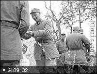 杨成武司令员给狼牙勇士发荣誉奖状