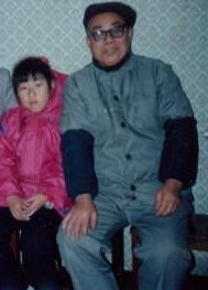 父亲与外甥女合影
